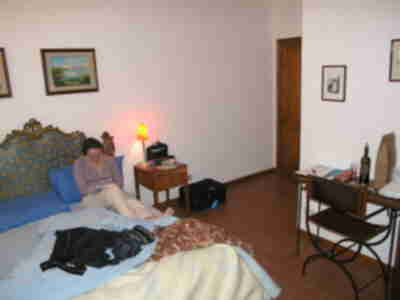 Our room at Agriturismo Santo Pietro