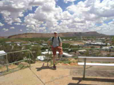 Brian, atop Anzac Hill in Alice Springs