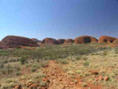 The back side of Kata Tjuta, in the Valley of the Winds