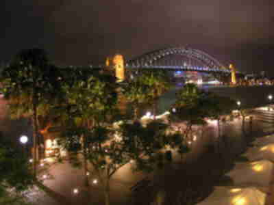 The Harbour Bridge, from Circular Quay