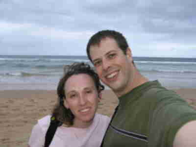 Brian and Lisa at Manly Beach