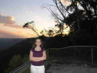 Lisa at the Gordon Falls viewpoint