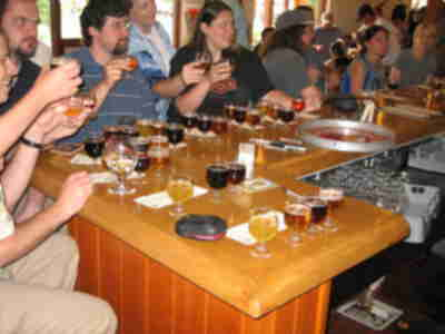 Tasting at New Belgium