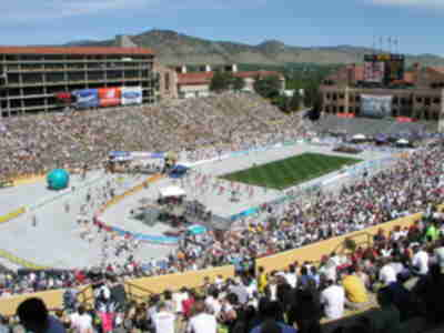 Folsom field - the finish line of the BolderBoulder