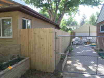 The new fence - unstained