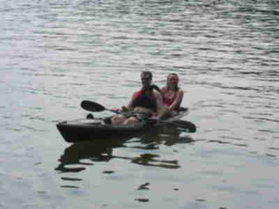 Brian and Lisa on the kayak