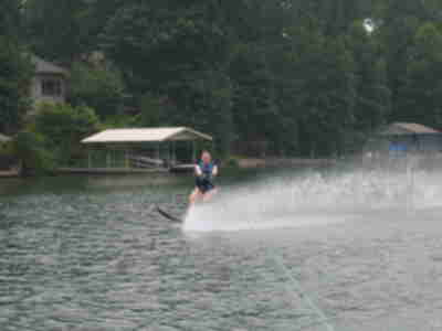Cindy on the slalom ski