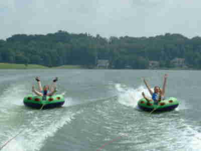 Chrissy and Lisa tubing
