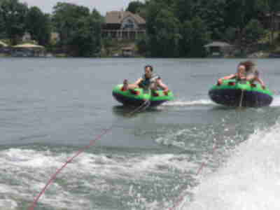 Brian and Lisa tubing