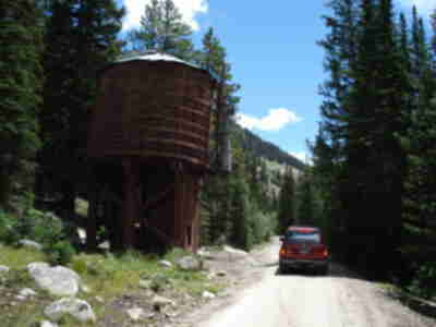 A water tank on the way up to the Alpine Tunnel