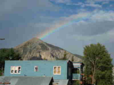 Rainbow on Mt. Crested Butte