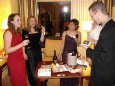 Champagne and Cheese before the party