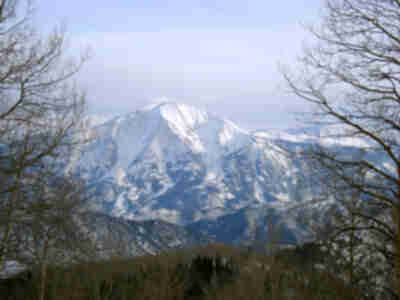 Mt. Sopris, from the top of Sunlight Ski Area