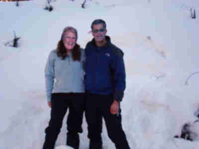 """Joan"" and ""Jay"" enjoying a day out snowshoeing"