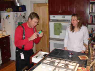"Brad and Lisa, after having located the ""cooking epoxy"""