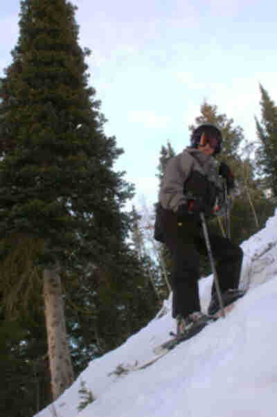 Andy, on a steep and rocky black run