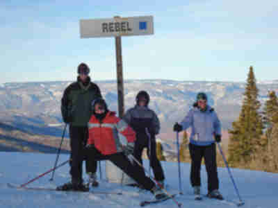 Lonny, Lisa, Andy, and Tracy heading down Rebel...