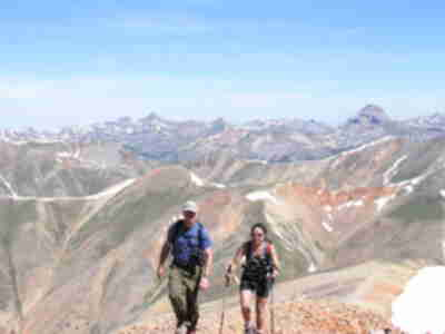 Brad and Shari summitting Redcloud
