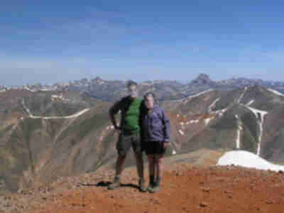 """Jay"" and ""Joan"", summitting their first 14er"