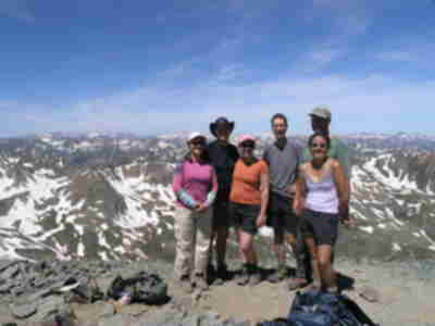 Tracy, Brian, Lisa, Lonny, Brad, and Shari on the summit of Handies