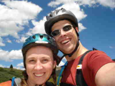 Lisa and Brian at the top of Vail Pass