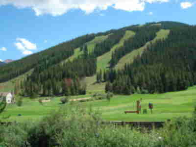 The golf course at the East Village at Copper Mountain