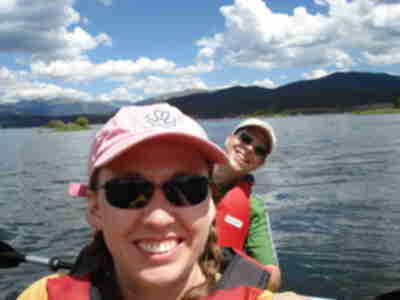 Later that day, we did some tandem kayaking on Lake Dillon