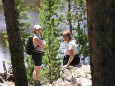 Lisa and Robin at Lily Pad Lake