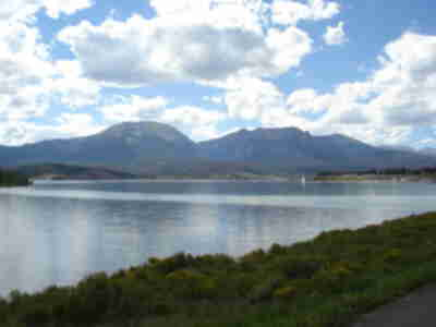 Buffalo and Red Mountain across Lake Dillon