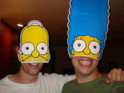 Lonny and Brian...er...Homer and Marge?