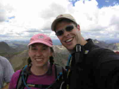 Lisa and Brian on the summit