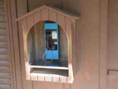 What backpacking campsite is complete without a pay phone (and flush toilets)