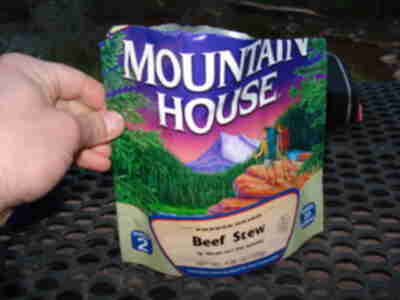 Mmmmm....freeze dried Beef Stew...