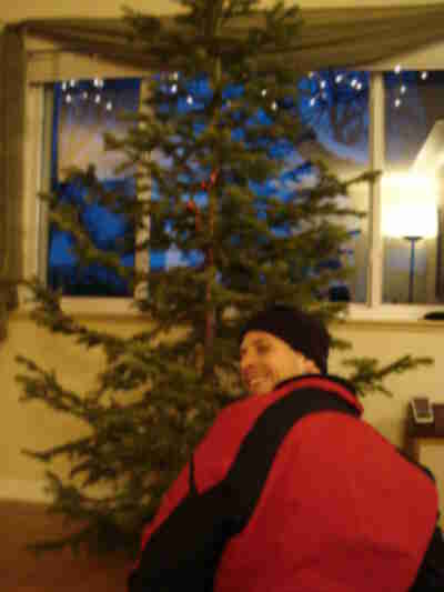 The ultimate geek trick: using a laser level to straighten the tree