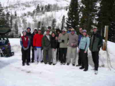 The group - back at the trailhead