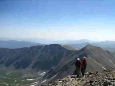 Jamie and Brian reach the summit