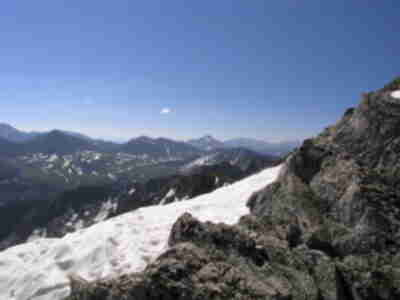 Harvard, Yale, Princeton, and Antero all visible from the summit ridge
