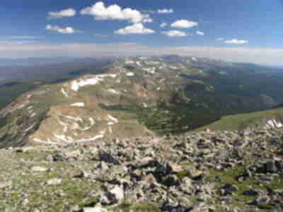 Indian Peaks and Longs Peak stretch to the north