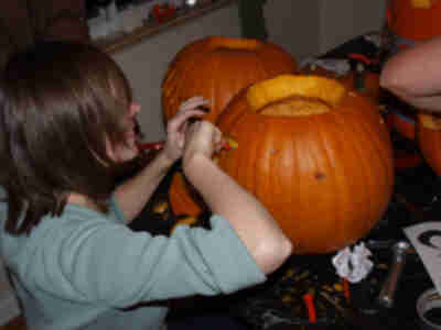 Kathy carving