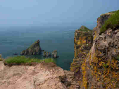 The cliffs at Cape Split and the Bay of Fundy