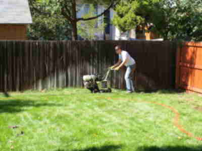 Brian with the sod cutter