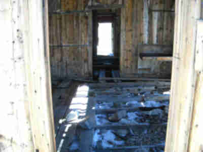 Inside the old cabin