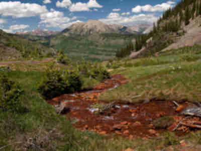 A perfectly natural color for a stream...below a mine....