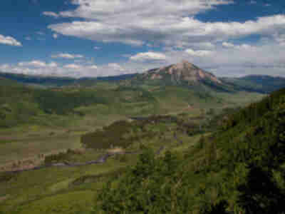 Mt. Crested Butte from the trail