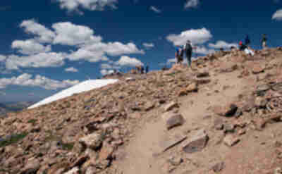 Reaching the summit, with about 100 others