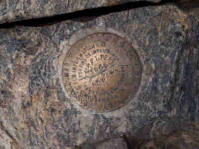 The USGS marker on the summit