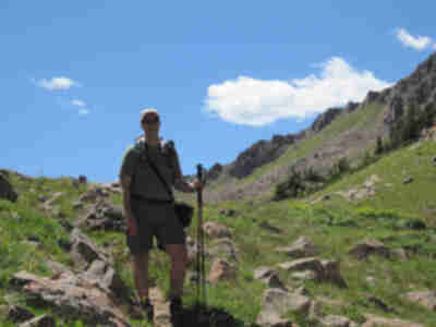Brian just below the north side of Eccles Pass