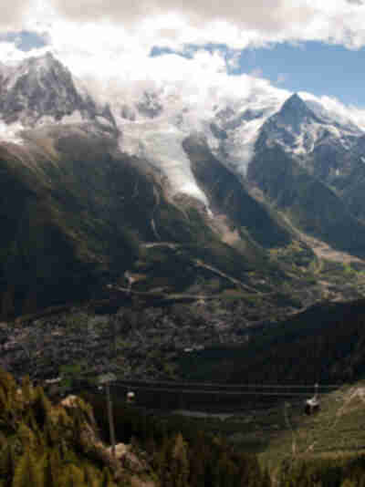 Chamonix from above