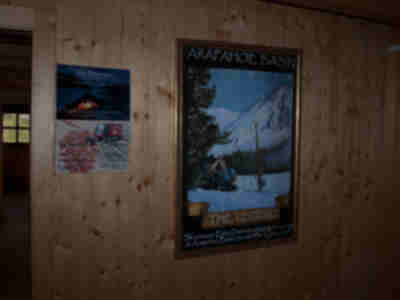 ...an unexpected poster to find in a Cabane in Switzerland