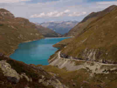 The amazing blue color of Lac de Moiry